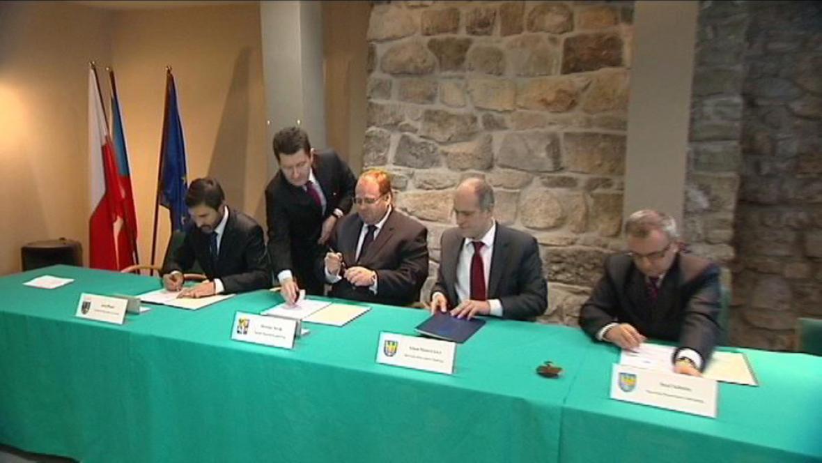 Slavnostní podepsání smluv o vzniku regionu TRITIA