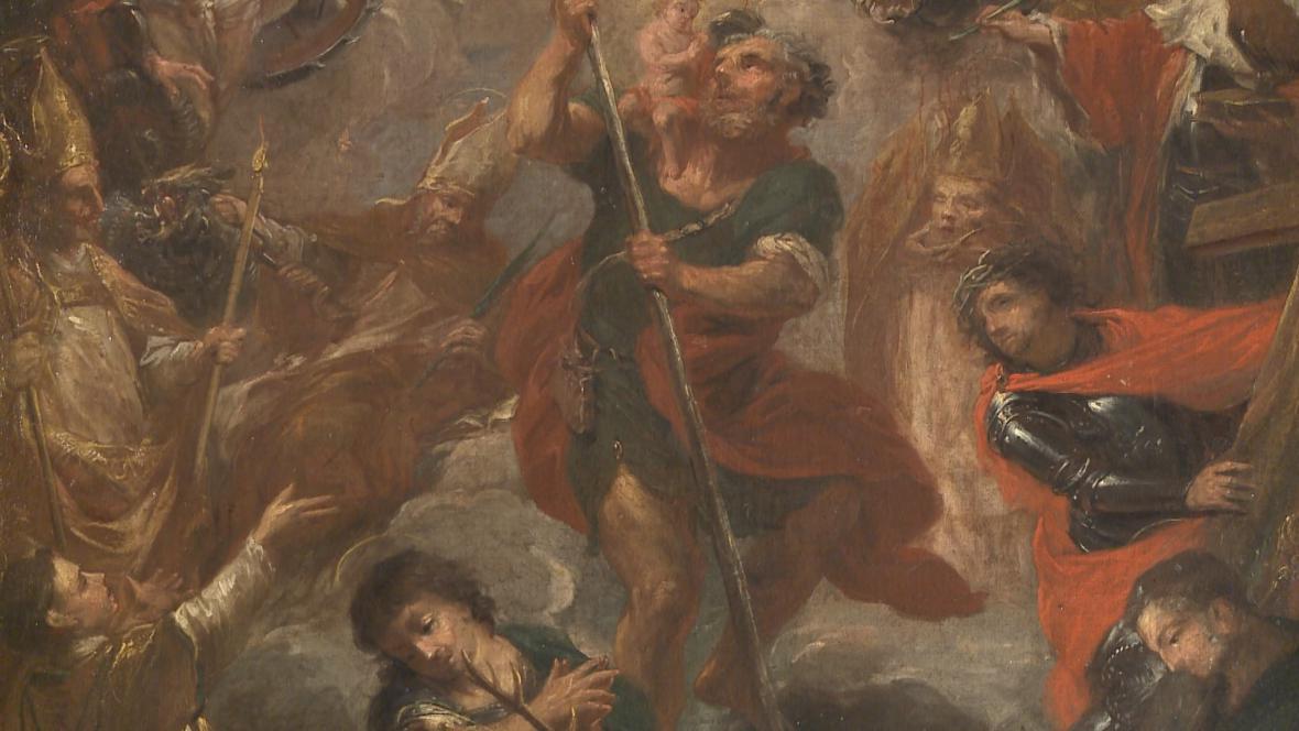 Michael Leopold Willmann: Čtrnáct svatých pomocníků (detail)