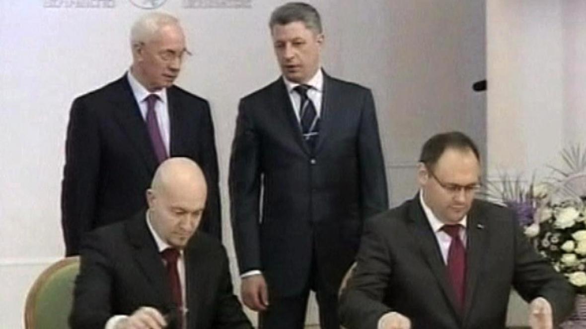 Podpis ukrajinsko-španělské dohody
