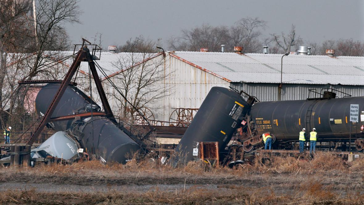 Havárie nákladního vlaku u Paulsboro