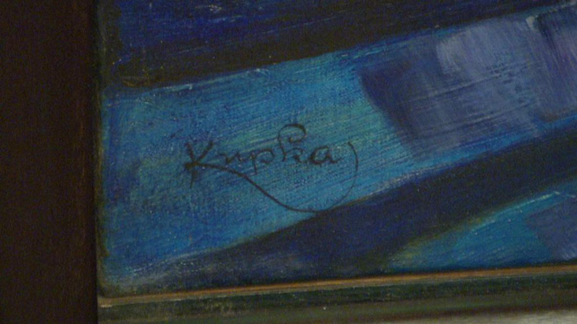František Kupka / Tvar modré (detail)
