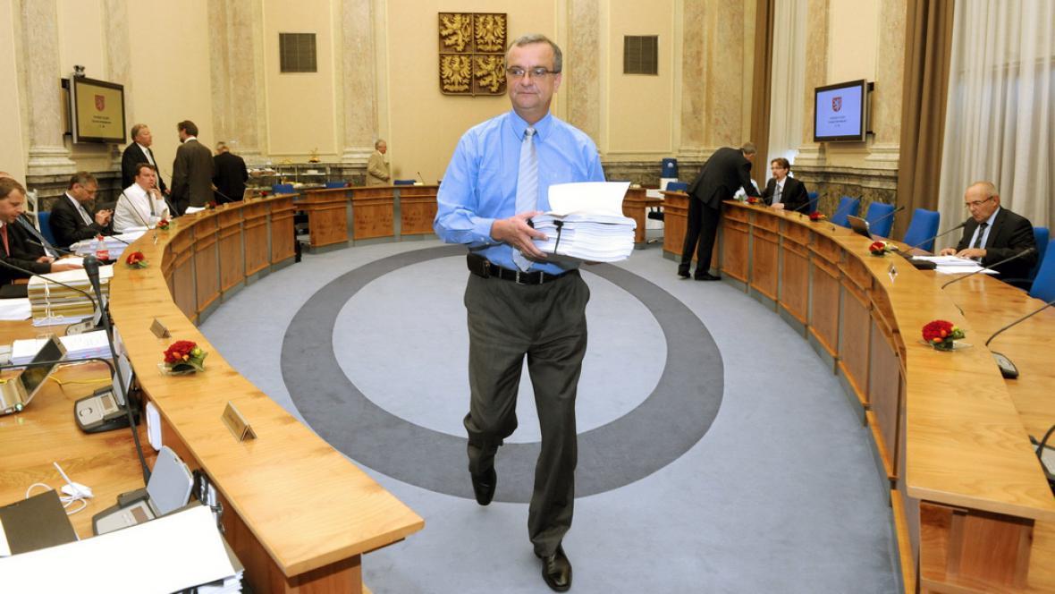 Miroslav Kalousek na jednání vlády