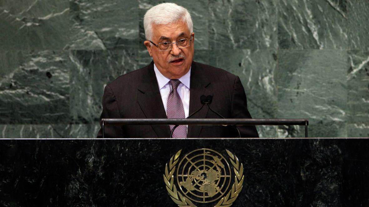 Projev Mahmúda Abbáse v OSN