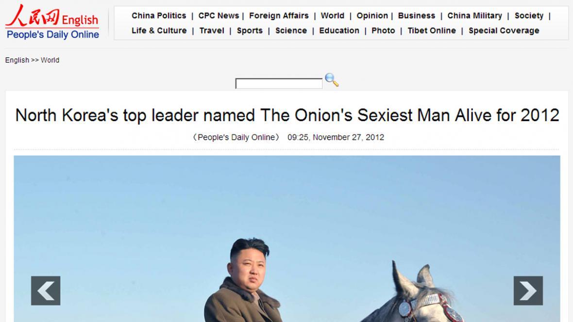 Žen-min ž'-pao naletěl na článek z The Onion