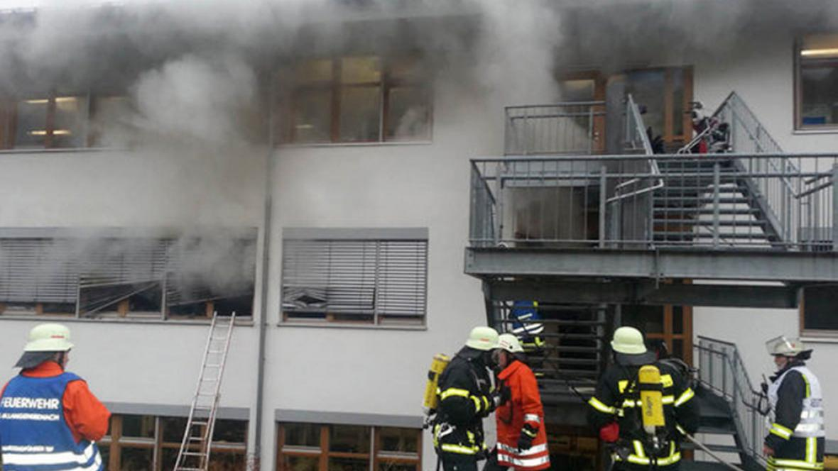 Požár dílny pro handicapované