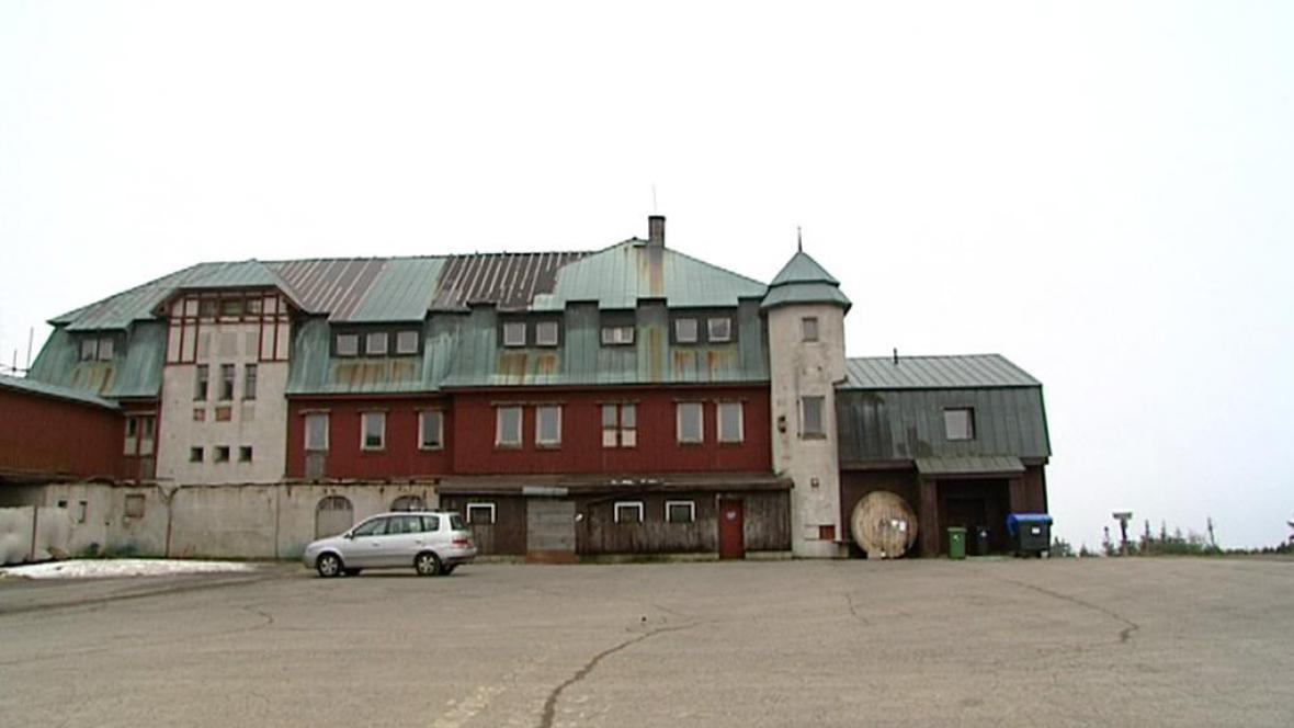 Hotel s restaurací na Klínovci