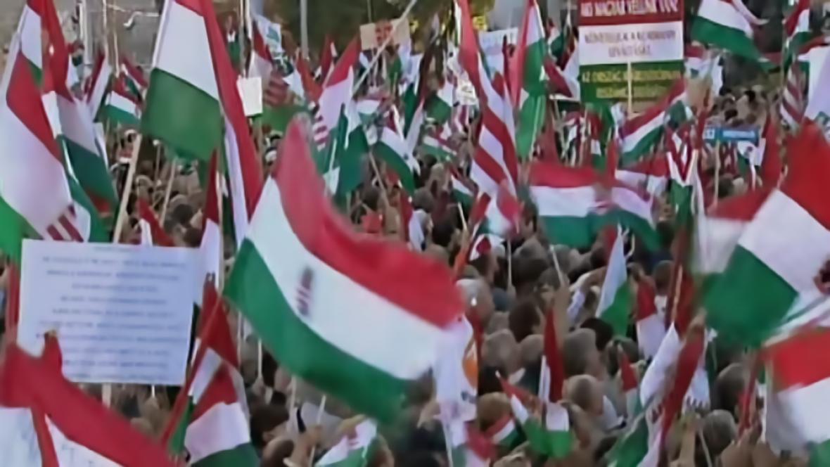 Demonstrace v Maďarsku