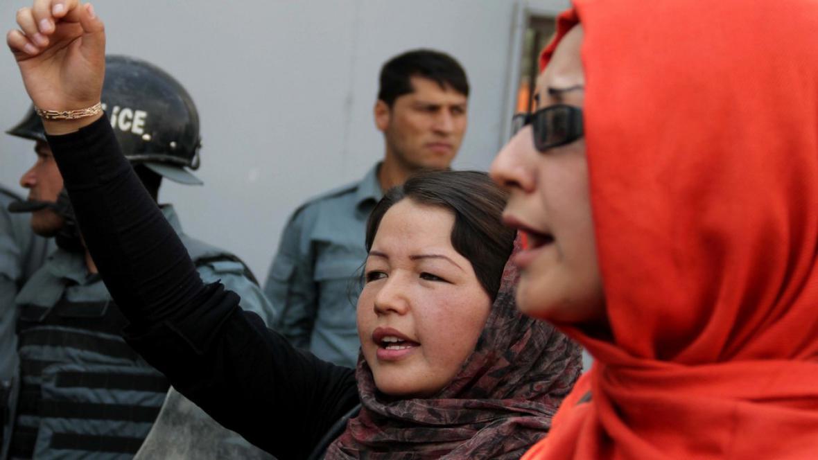 Protest afghánských žen