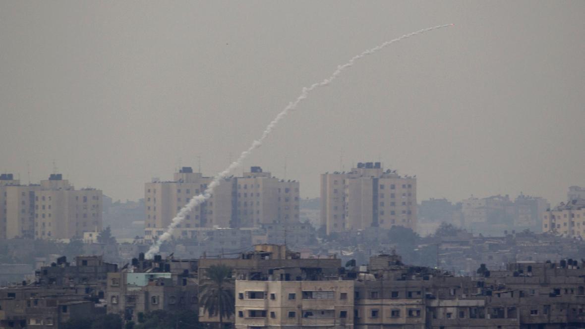 Raketa vypálená z pásma Gazy