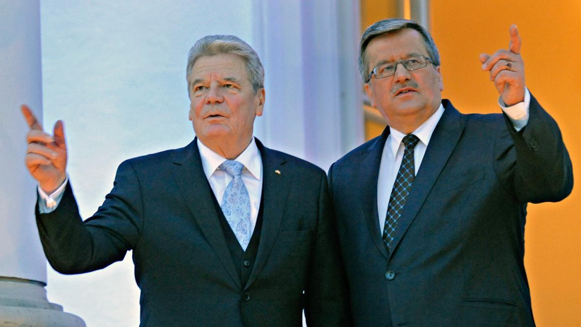 Joachim Gauck a Bronislaw Komorowski