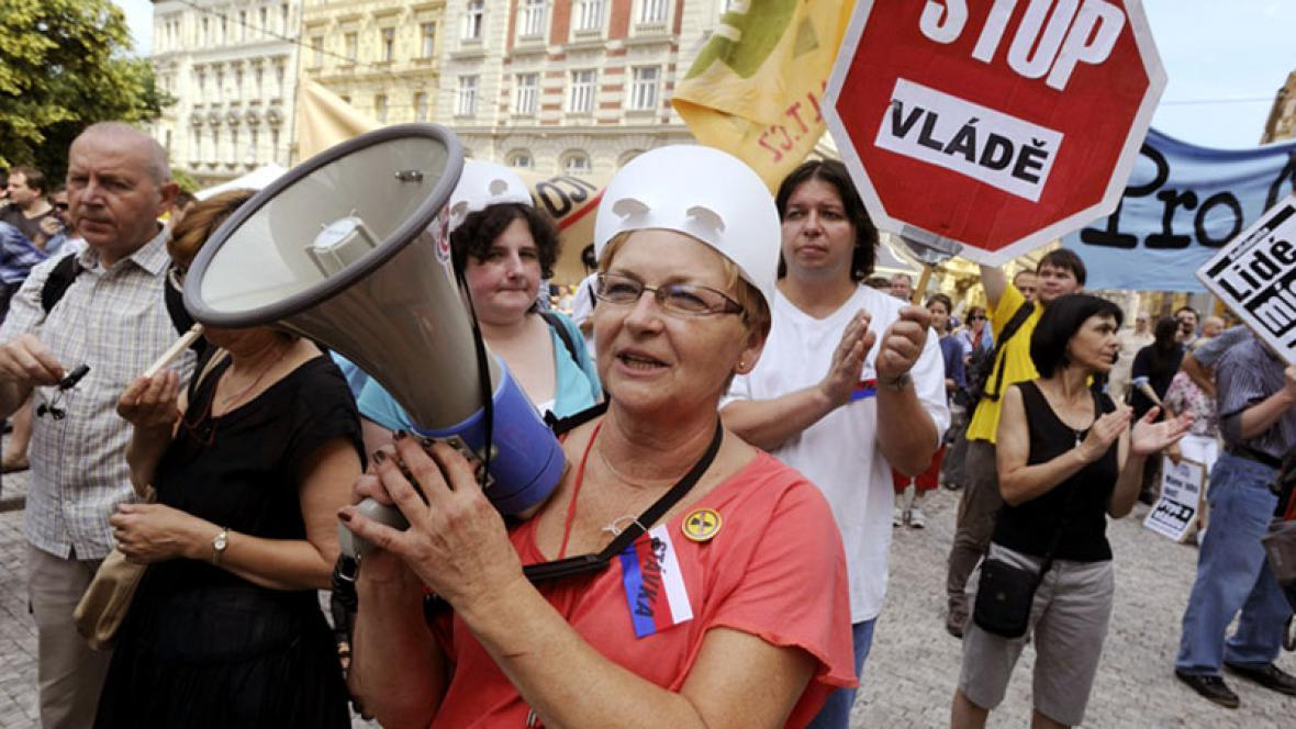 Demonstrace na podporu stávky