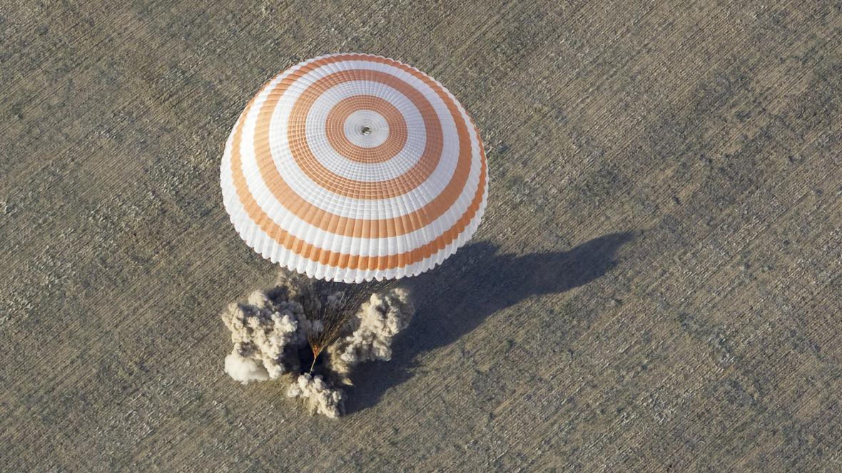 Přistání posádky z ISS