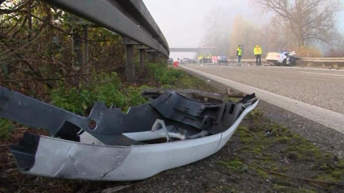 Následky tragické dopravní nehody