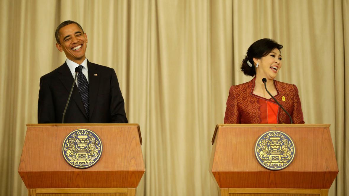 Barack Obama a Jinglak Šinavatrová