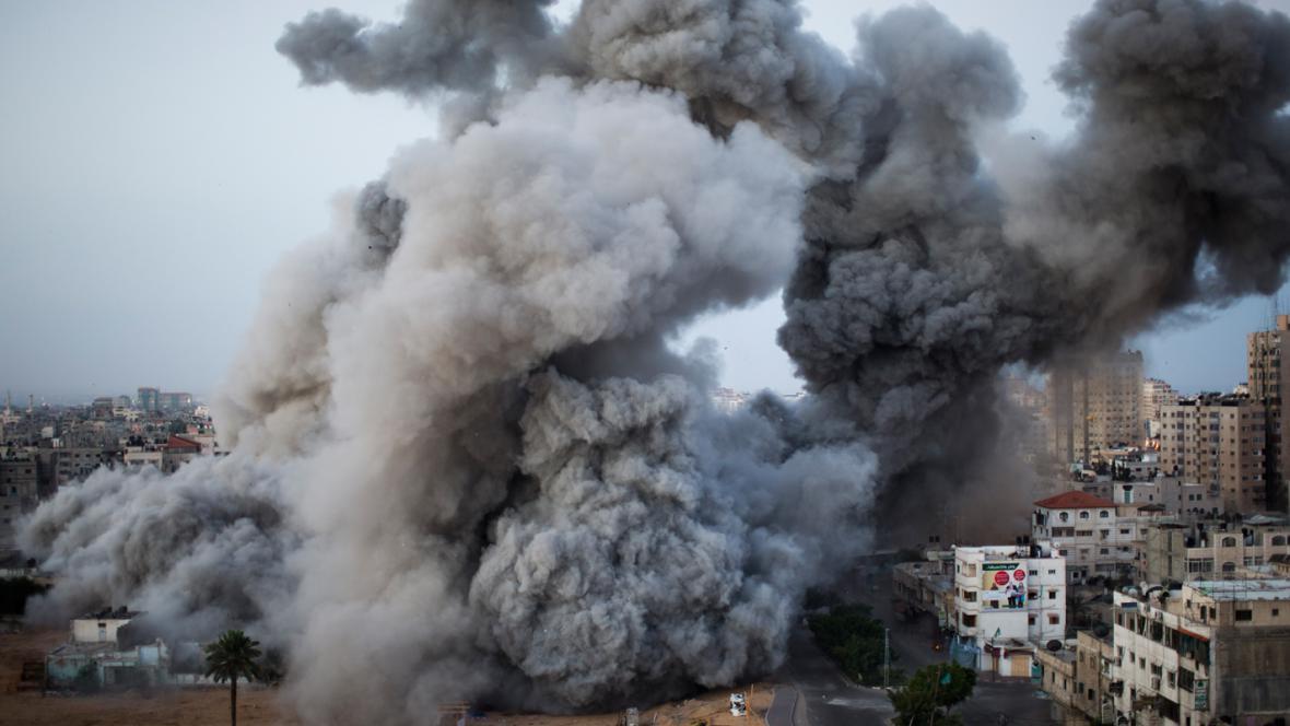 Izraelský nálet na Gazu