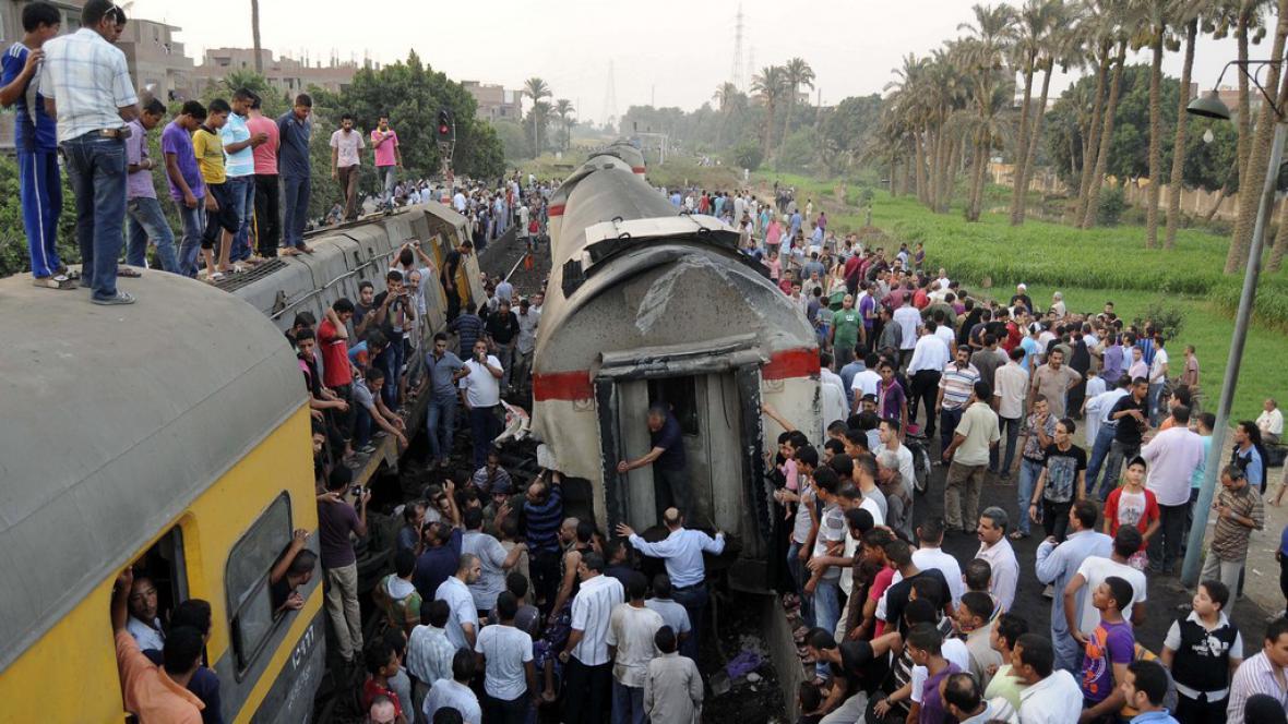 Nehoda vlaku v Egyptě