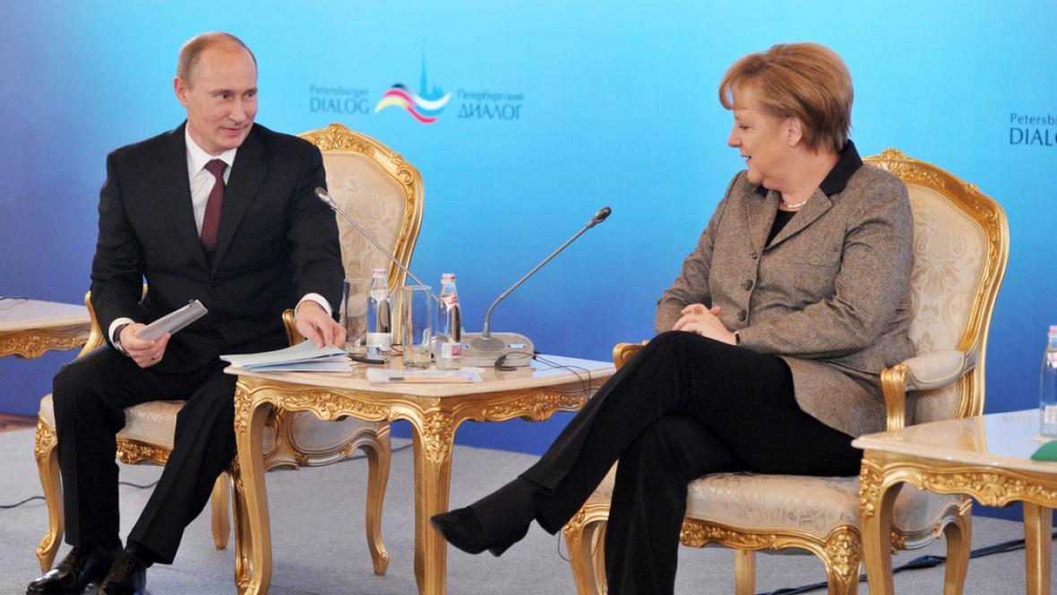 Angela Merkelová na návštěvě Ruska