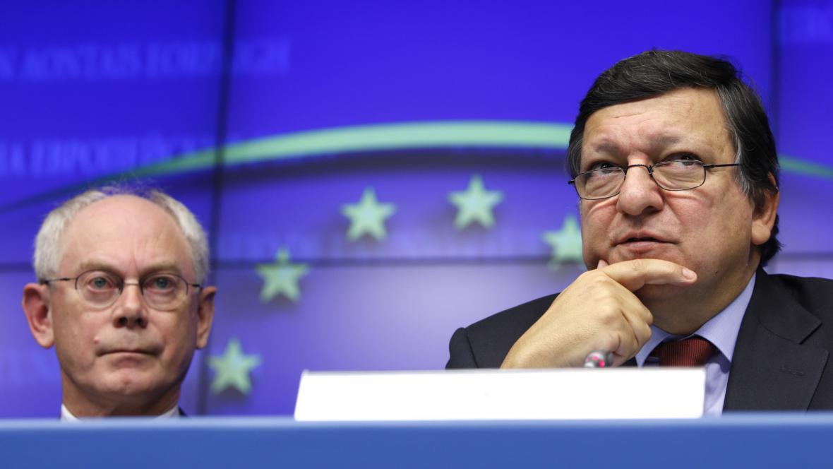 Herman van Rompuy a José Manuel Barroso