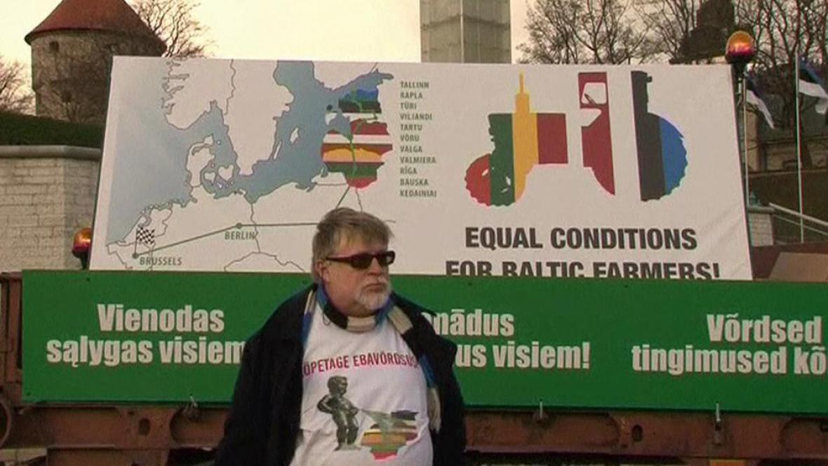 Estonský protest proti dotační politice EU