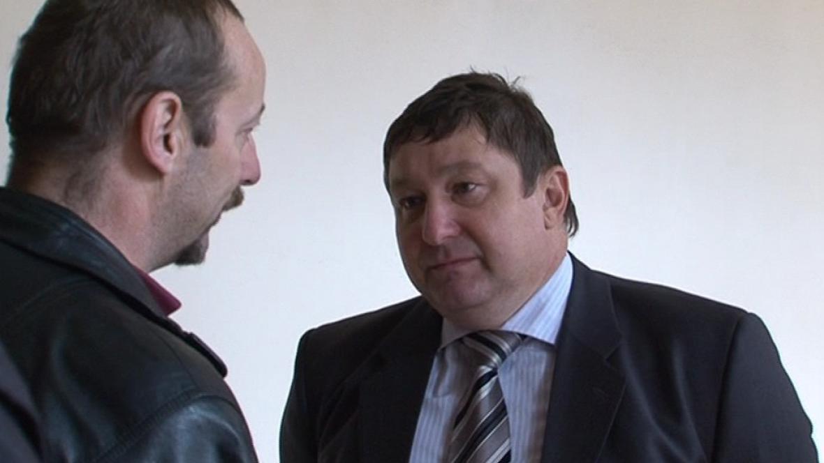 Martin Janečka se svým advokátem