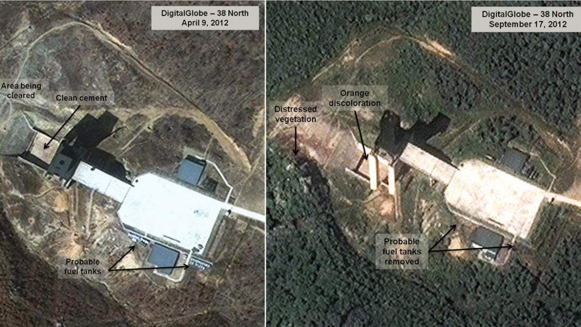 Analýza satelitních snímků KLDR