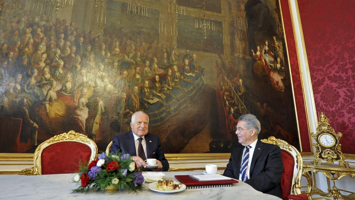 Prezident Václav Klaus a rakouský prezident Heinz Fischer