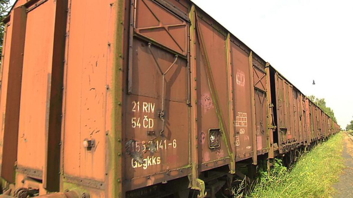 Odstavené nákladní vagony