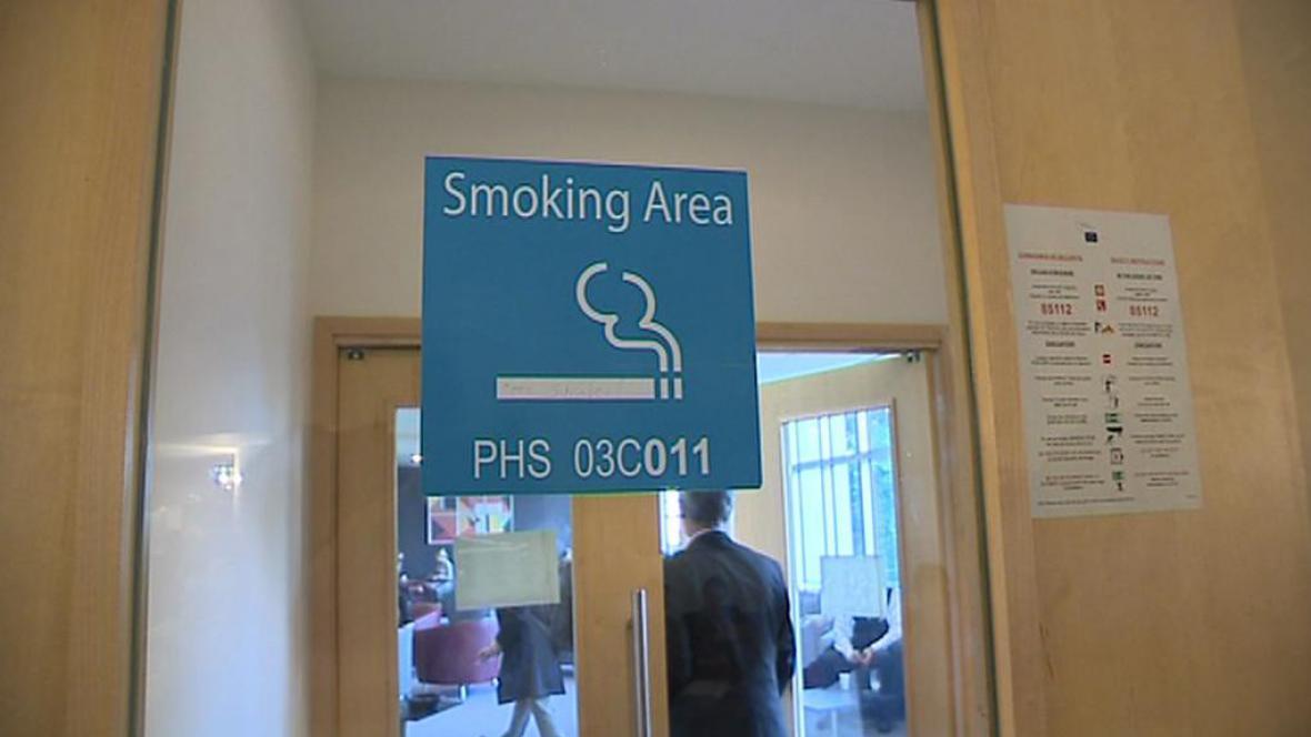Kuřácký prostor v Evropském parlamentu