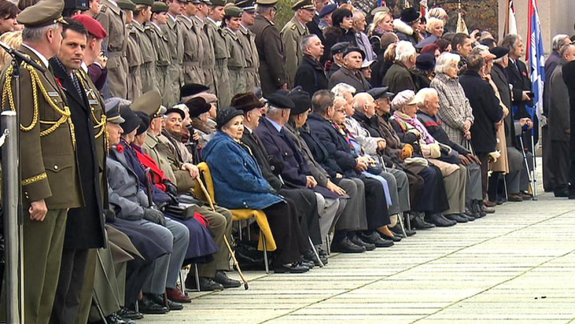 Připomínka Dne veteránů na pražském Vítkově