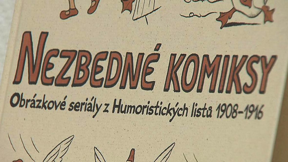 Detail titulní stránky Nezbedných komiksů Josefa Lady