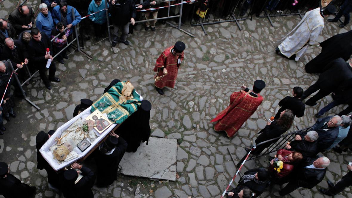 Pohřeb bulharského patriarchy Maxima
