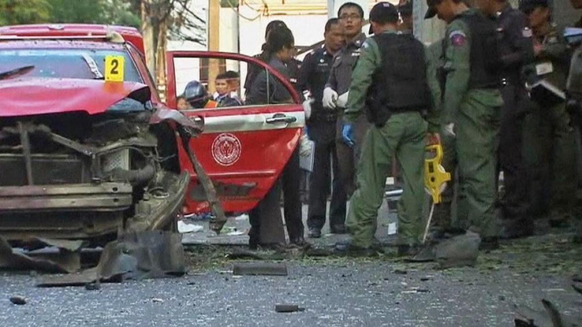 Vyšetřování výbuchu v Thajsku