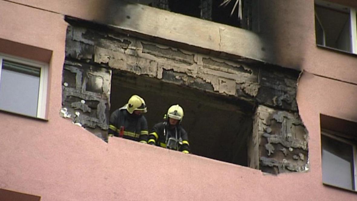 Požár domu ve Frýdku