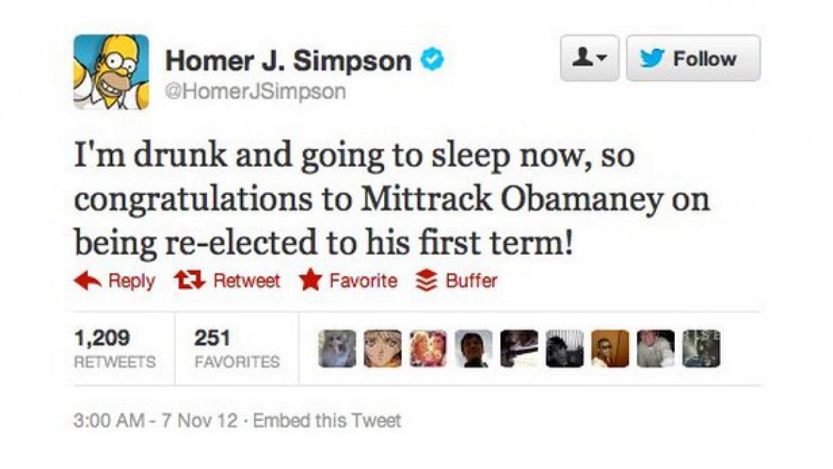 Homer Simpson tweetuje