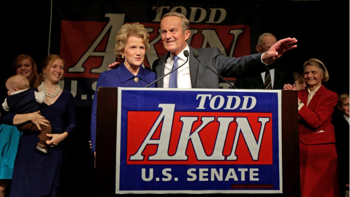 Neúspěšný kandidát do Senátu Todd Akin