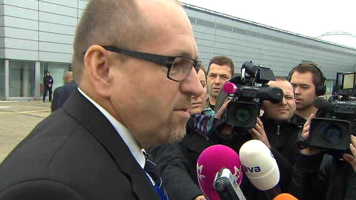 Ivan Fuksa před novináři