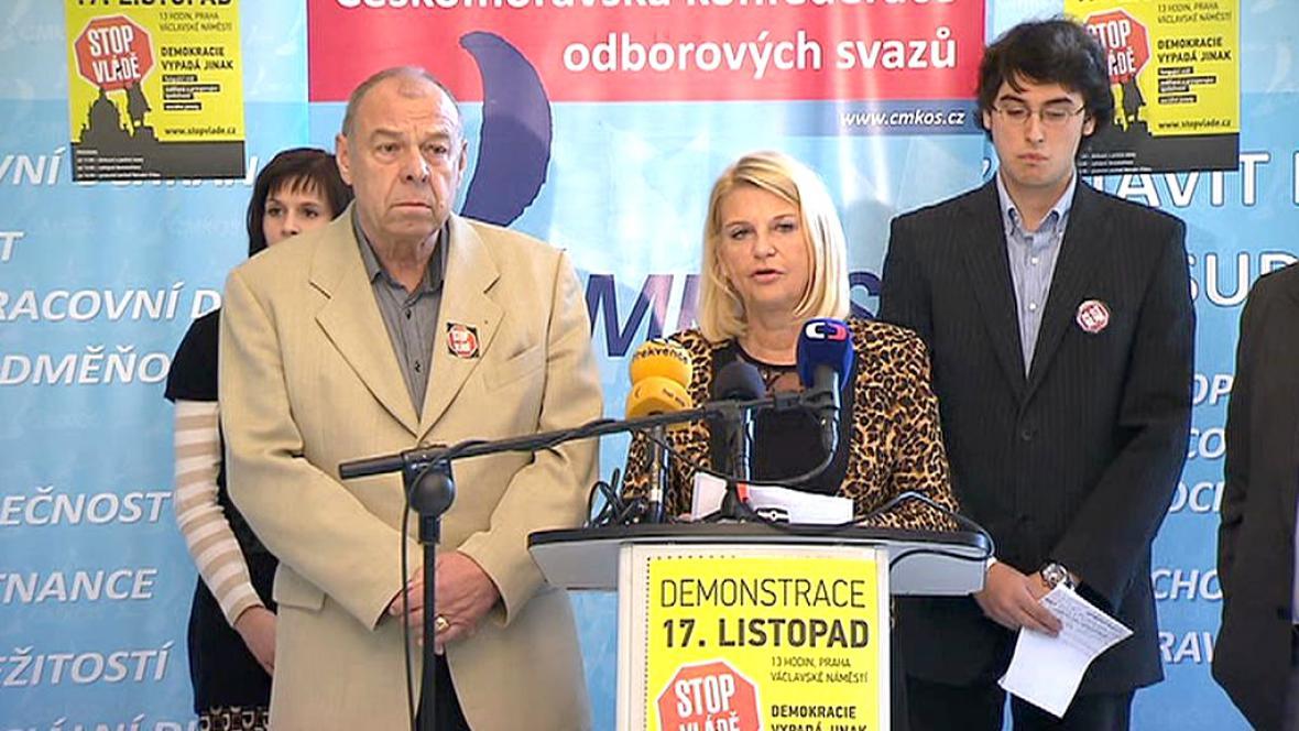 Zástupci odborů a občanských iniciativ