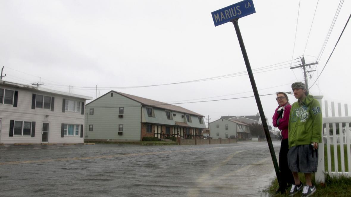 Hurikán Sandy zasáhl New Jersey