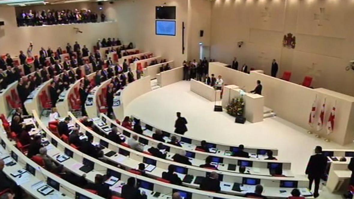 Zasedání gruzínského parlamentu