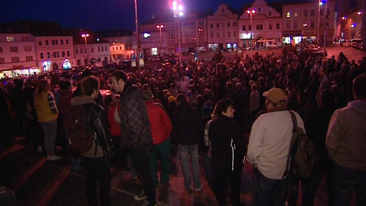 Oficiálně nepovolené shromáždění obyvatel Klatov