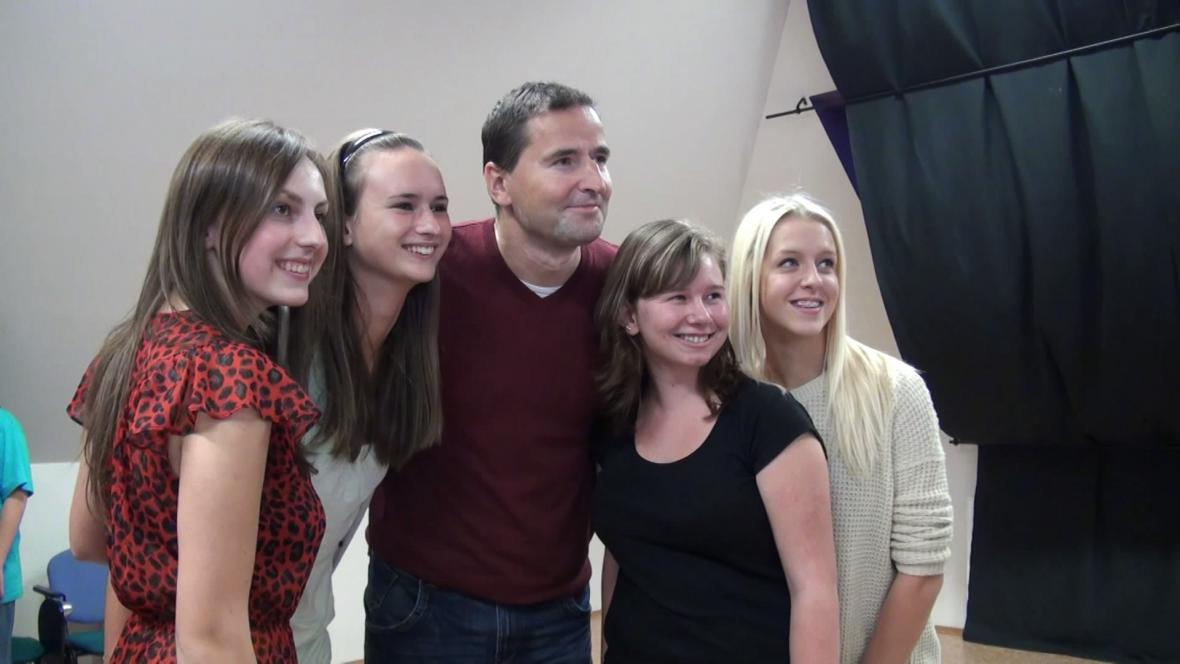 Robert Záruba s mladými kolegy