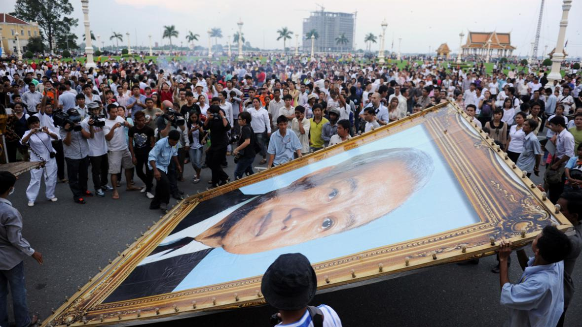Kambodžané truchlí za bývalého krále Norodoma Sihanuka