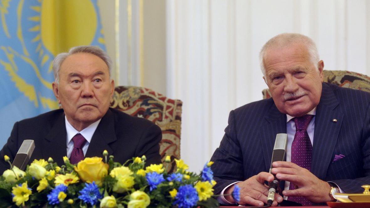 Nursultan Nazarbajev a Václav Klaus