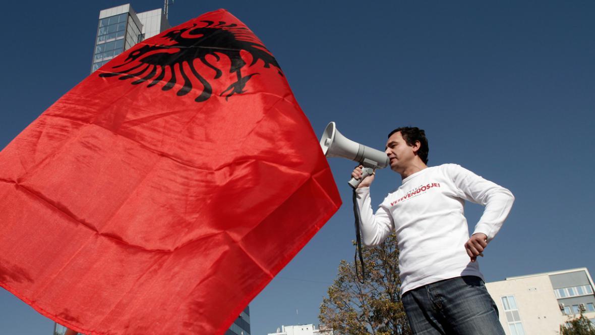 Demonstrace kosovských nacionalistů