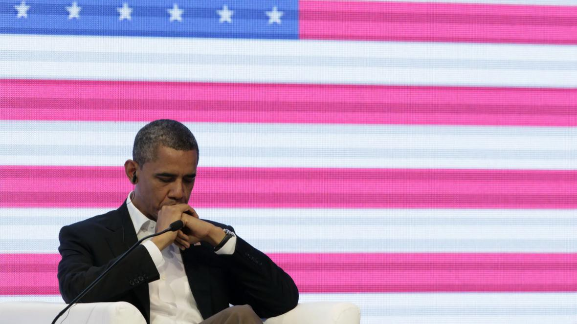 Barack Obama na summitu v Cartageně