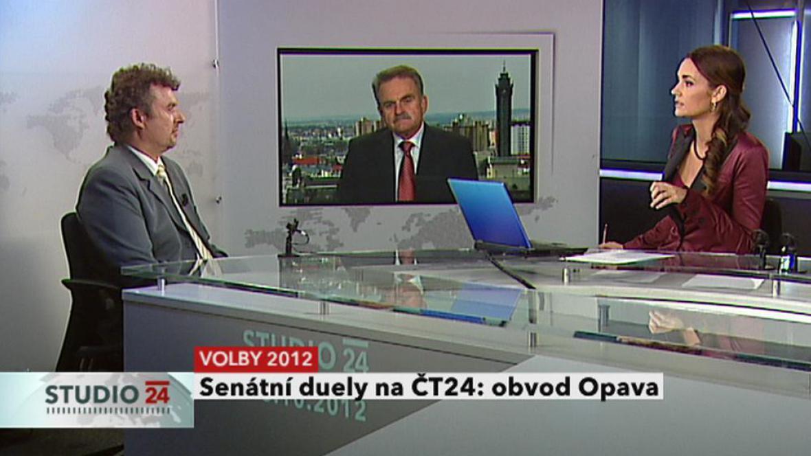 Volební obvod Opava: Václav Vlček (ODS) - Vladimír Plaček (ČSSD)