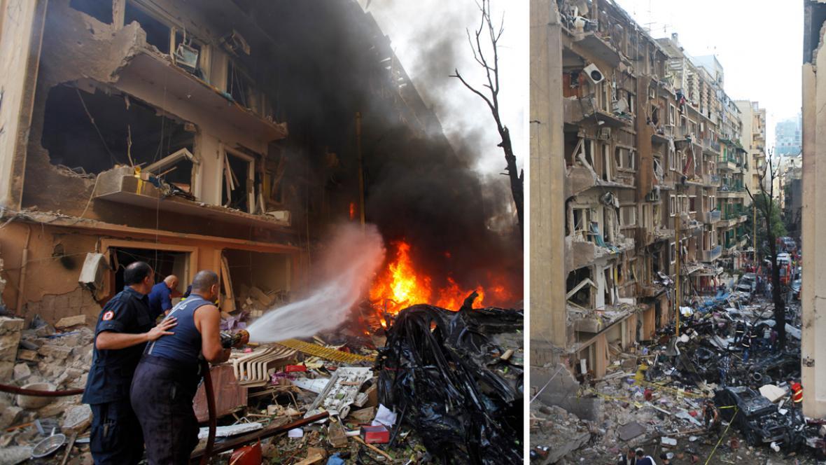 Pumový útok v Bejrútu