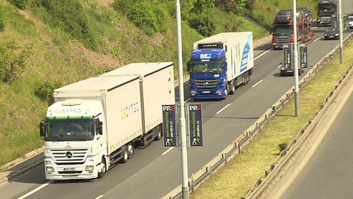 Kamiony v Praze