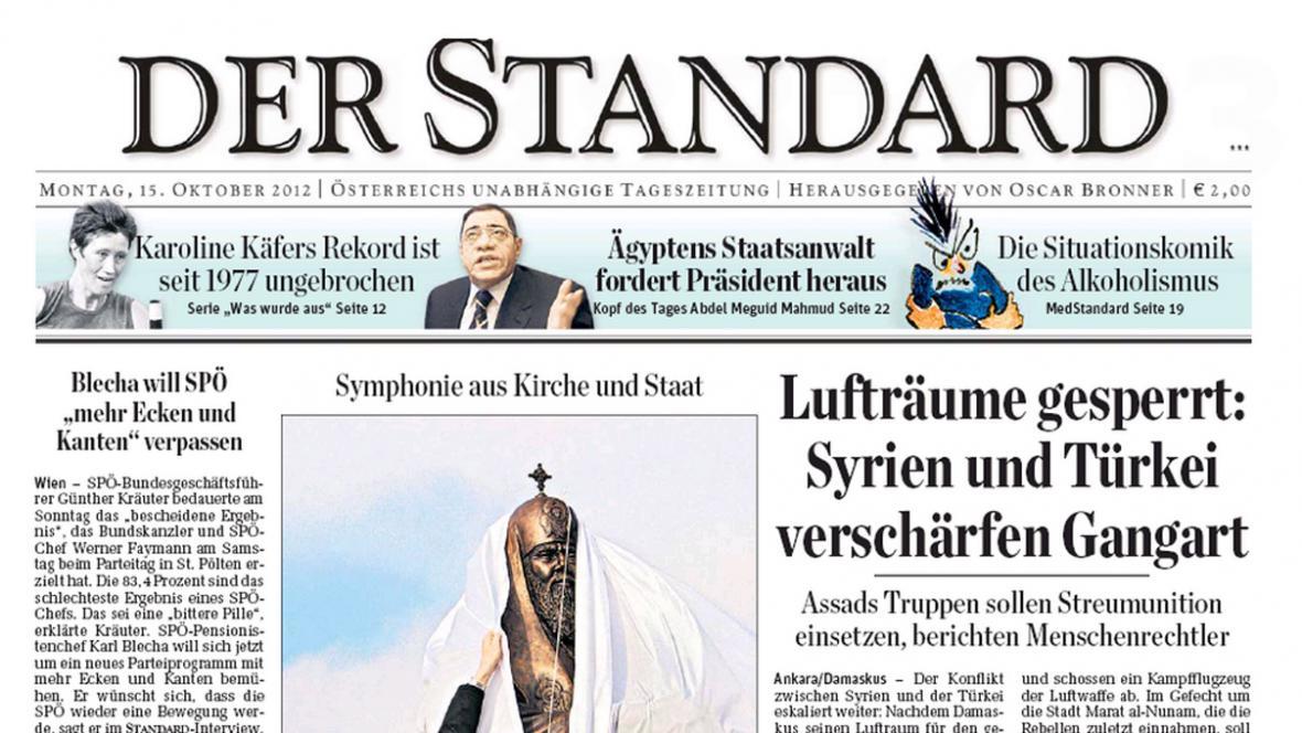 Der Standard z 15. října 2012
