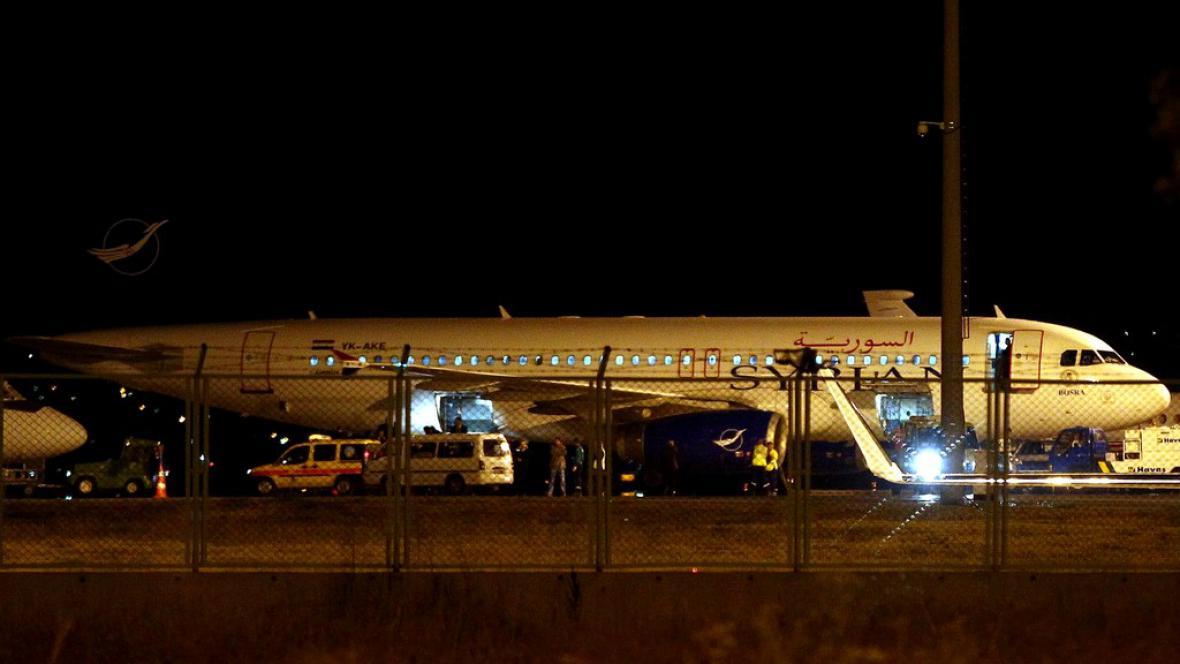 Letadlo zadržené v Turecku